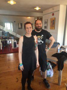 """Ida Bogne & Tobias Karlsson besökte """"Nördliv"""" båset för en intervju."""